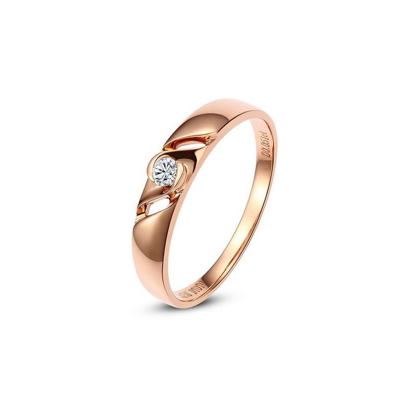 Bijoutier alliance de fiançaille - Alliance Homme diamant - Or rose