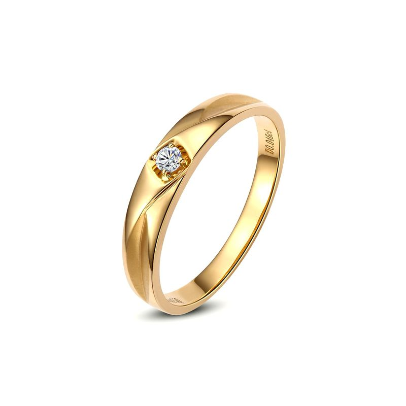 Alliance diamant or jaune - Alliance pour Lui