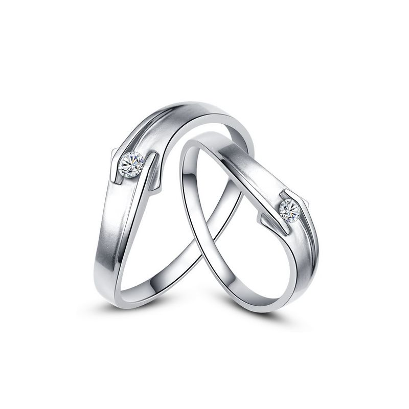 Alliances diamants or blanc - Alliances Couple