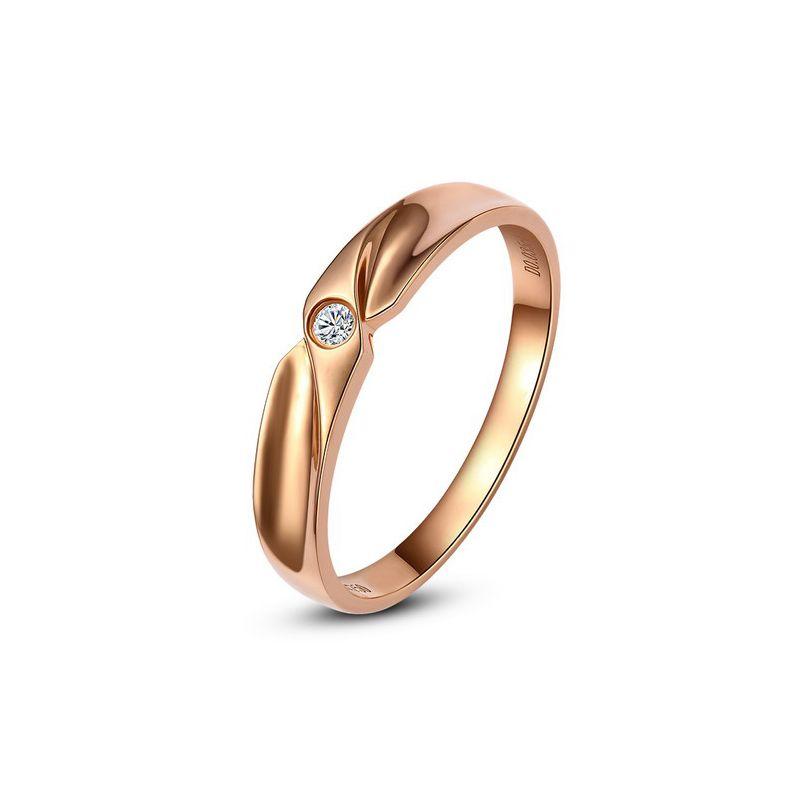 Alliance originale or rose - Alliance Femme - Diamant