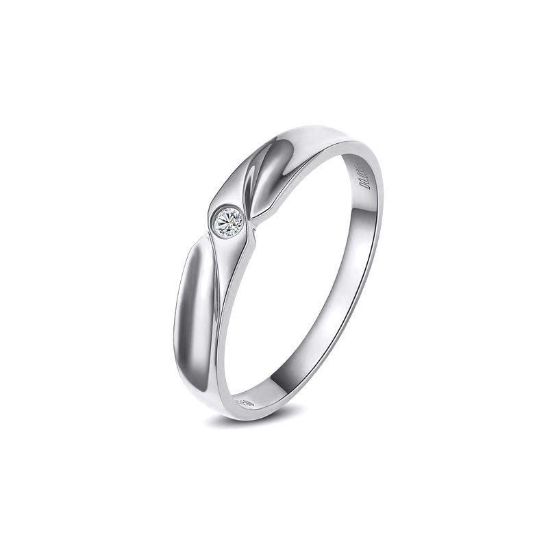 Alliance originale platine - Alliance Femme - Diamant