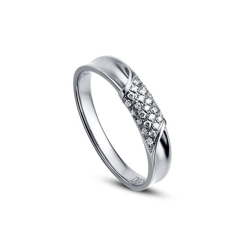 Alliance Femme - Or blanc - Diamants 0.105ct
