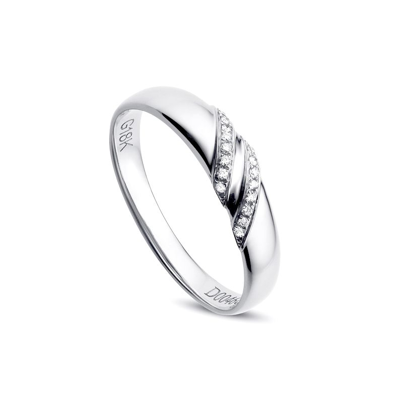 Alliance Femme - Or blanc - Diamants 0.044ct