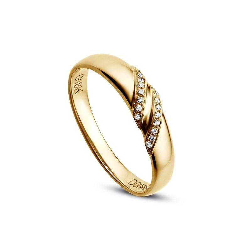 Alliance Femme. Or jaune. Diamants 0.044ct