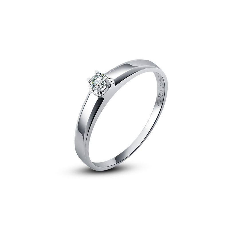 Alliance mariage originale - Alliance Femme - Platine - Diamant