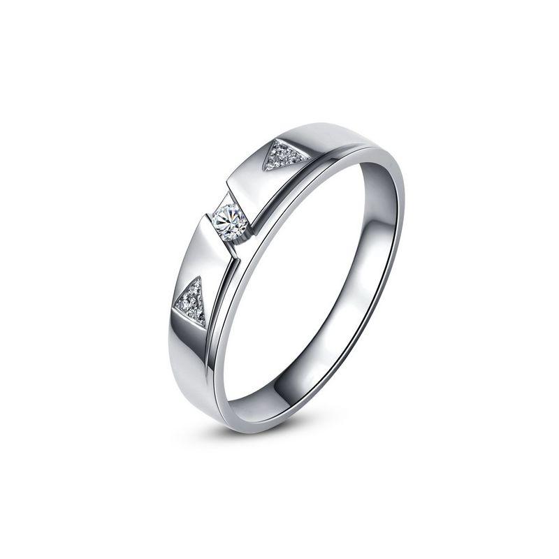 Alliance diamants - Or blanc - Alliance Femme