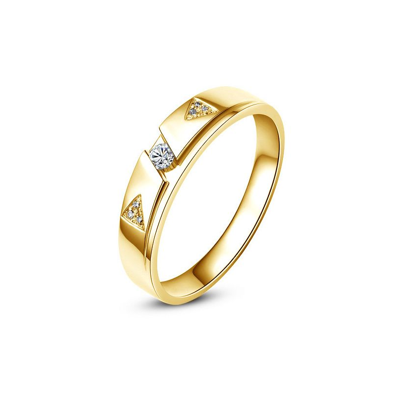 Alliance diamants - Or jaune - Alliance Femme