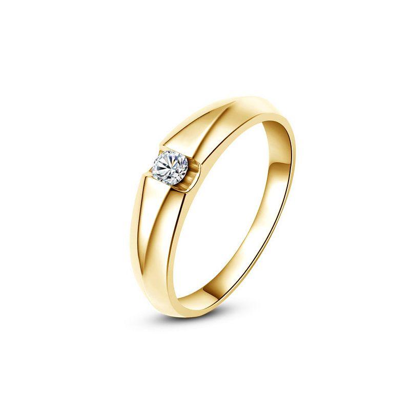 Exceptionnel Alliance solitaire or blanc - Bague alliance diamant pour Femme DF18