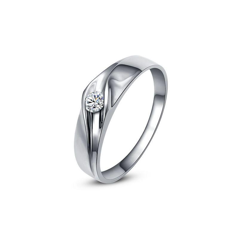 Alliance de fiançaille - Alliance or blanc pour Femme - Diamant