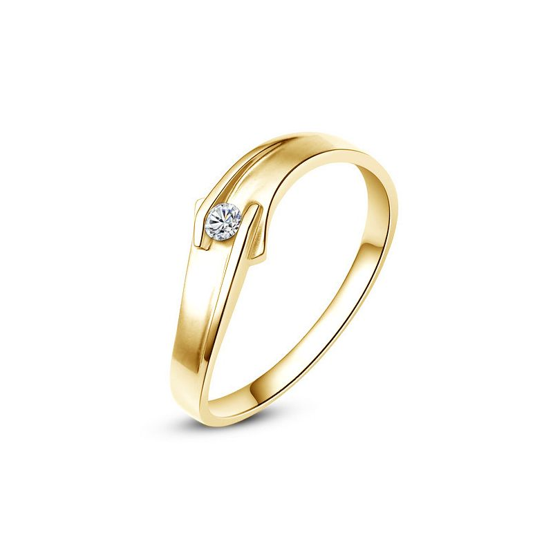 Alliance diamant or jaune - Alliance Homme