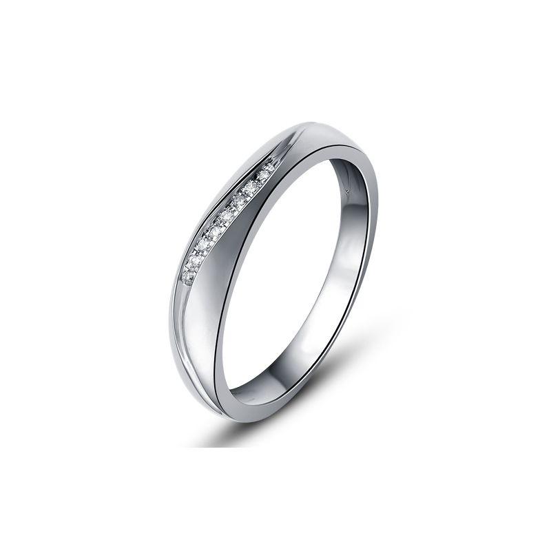 Alliance or mariage - Alliance diamants - Or blanc, Femme