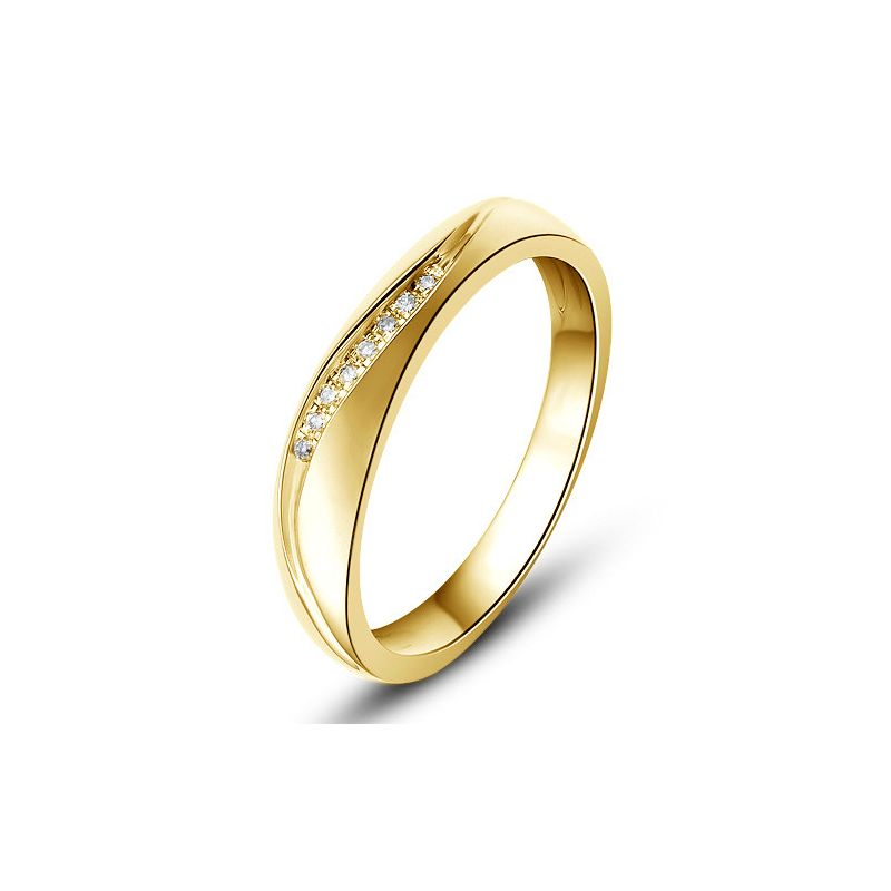 Alliance or mariage - Alliance diamants - Or jaune, Femme