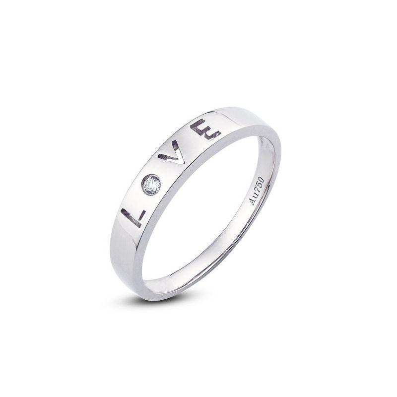 Alliance Love - Alliance femme platine - Diamant