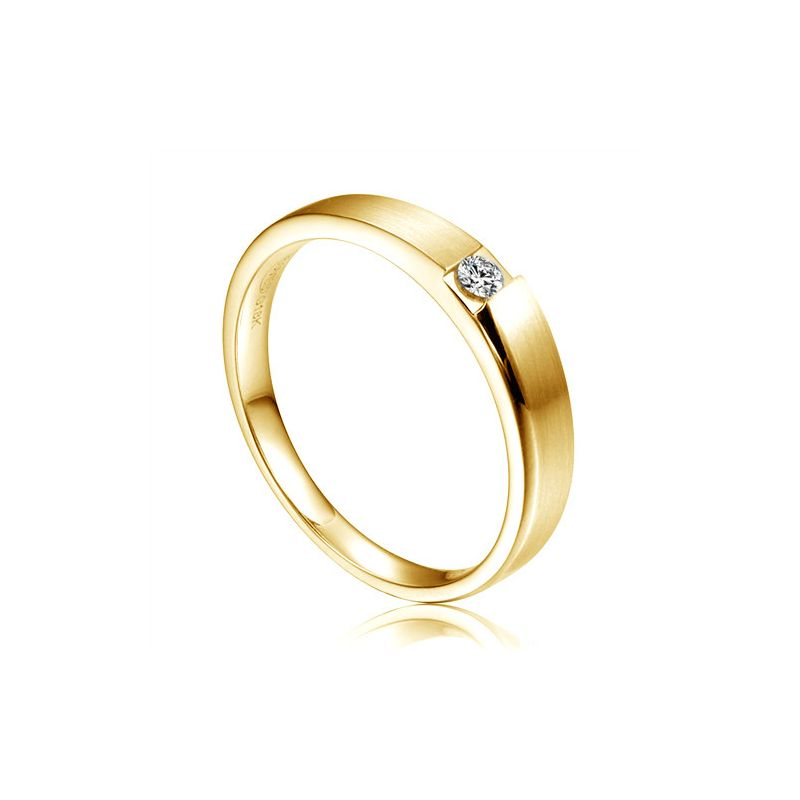 Alliance de fiançaille 2012 - Alliance pour Femme - Or jaune, diamant