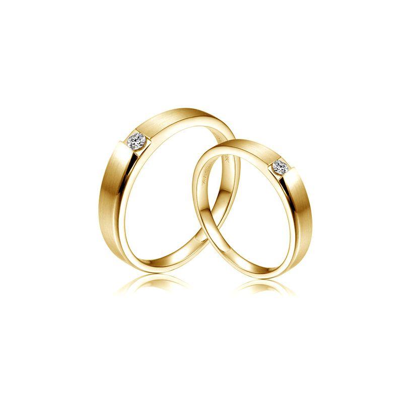 Alliances de fiançailles 2012 - Alliances Duo - Or jaune, diamants