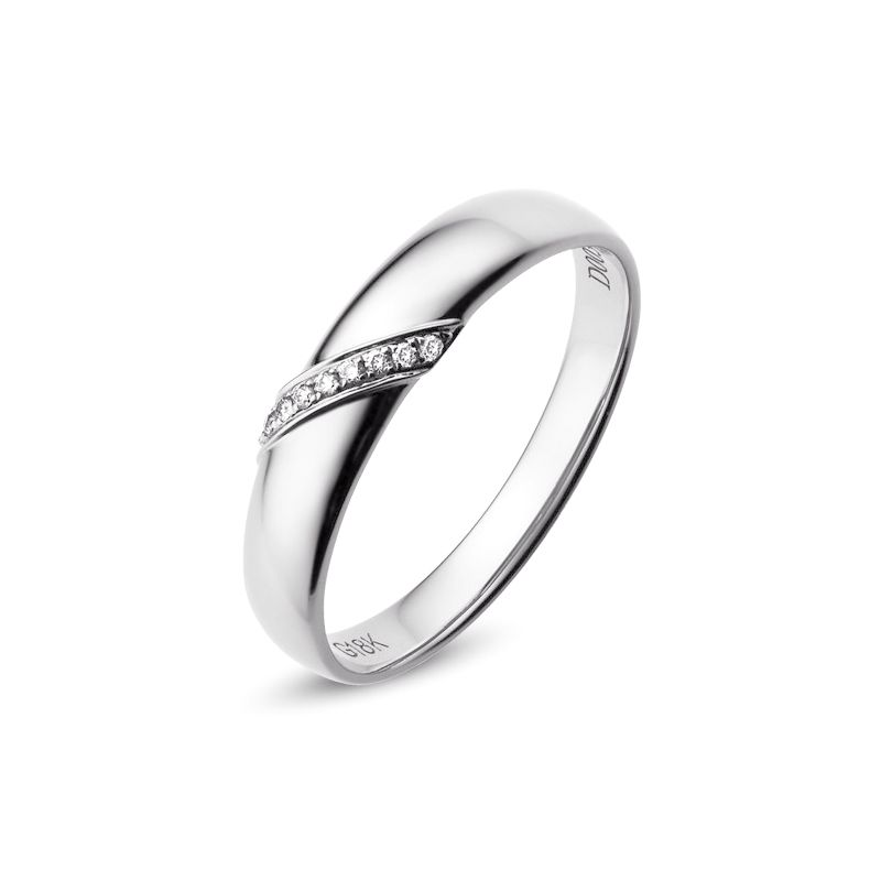 Alliance Homme - Or blanc - Diamants 0.030ct