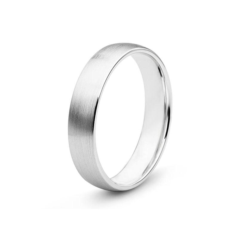 Alliance diamant or blanc - Lignes pures - Homme