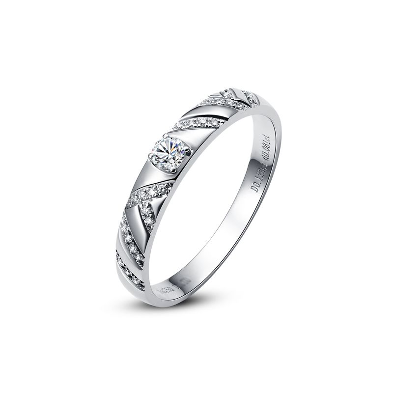 Bague femme - Or blanc et Diamants