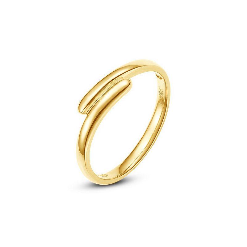 Alliance de mariage Femme. Or jaune. Diamant