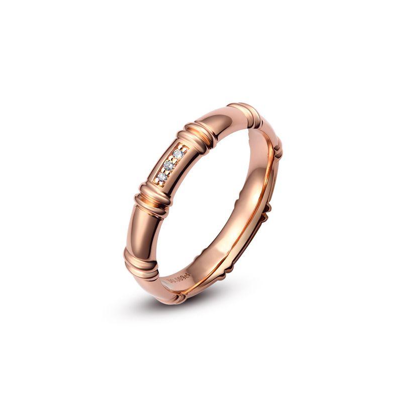 Alliance en or rose 18 carats - Alliance diamants pour Femme