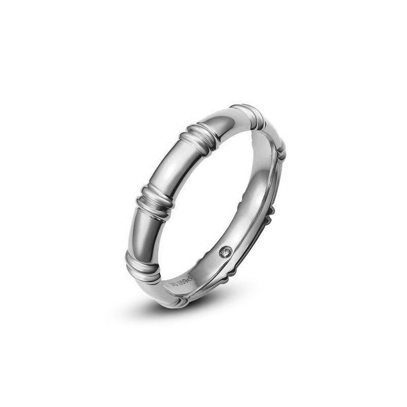 Alliance en or blanc 18 carats - Alliance diamants pour Homme
