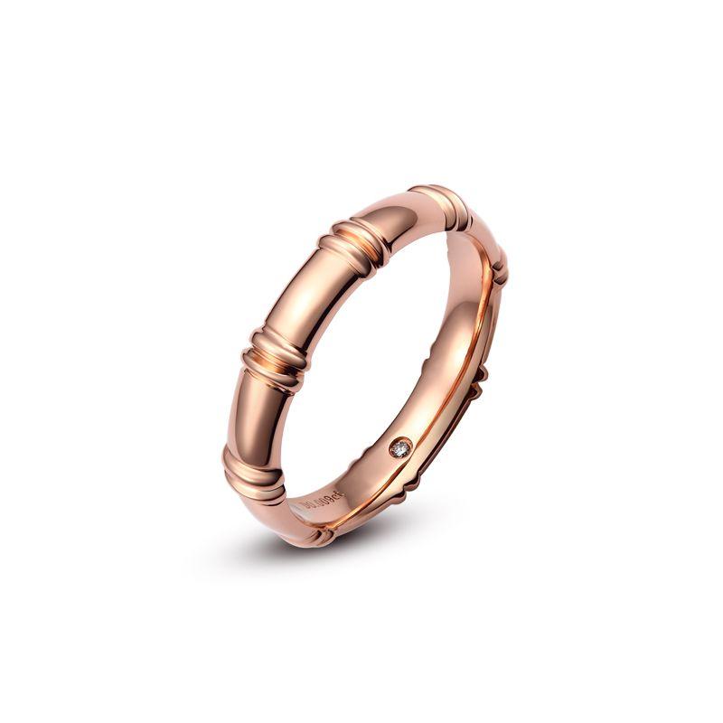 Alliance en or rose 18 carats - Alliance diamants pour Homme