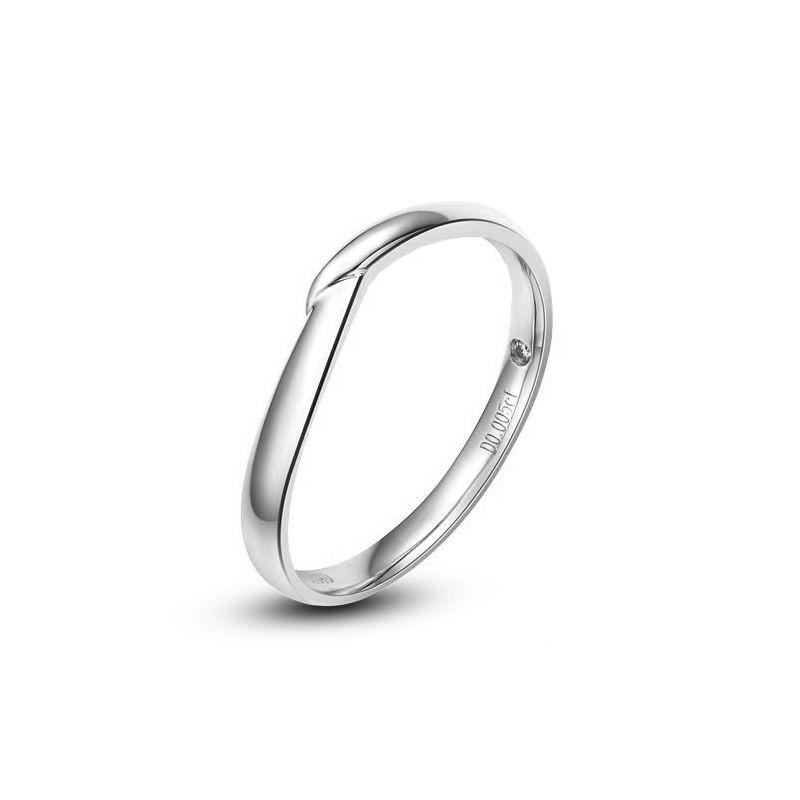 Alliance bague facettée - Alliance diamant Homme - Or blanc