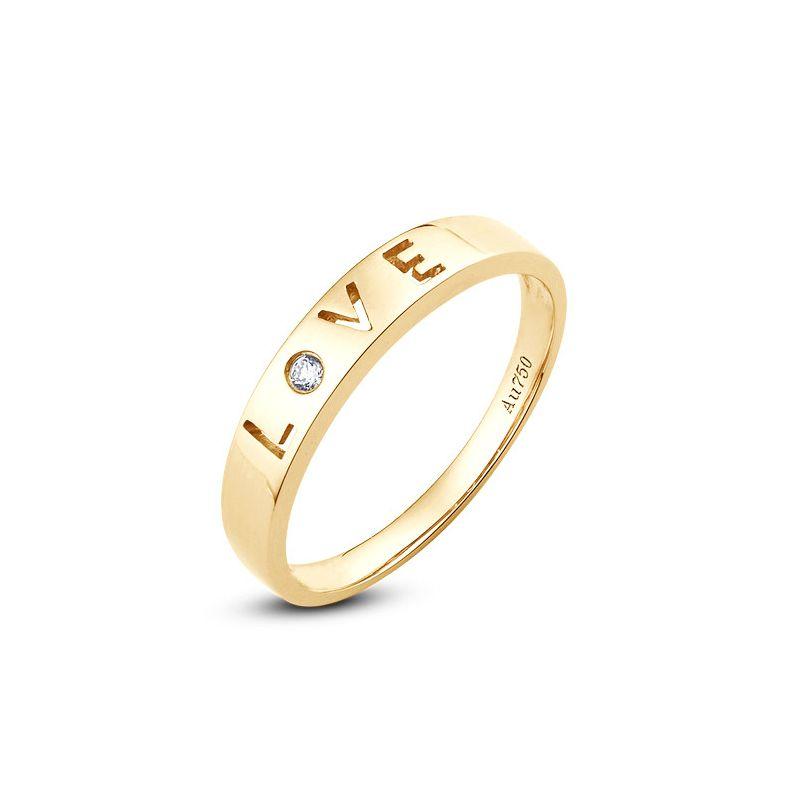 Alliance Love - Alliance homme or jaune - Diamant