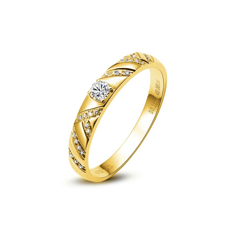 Bague femme - Or jaune et Diamants