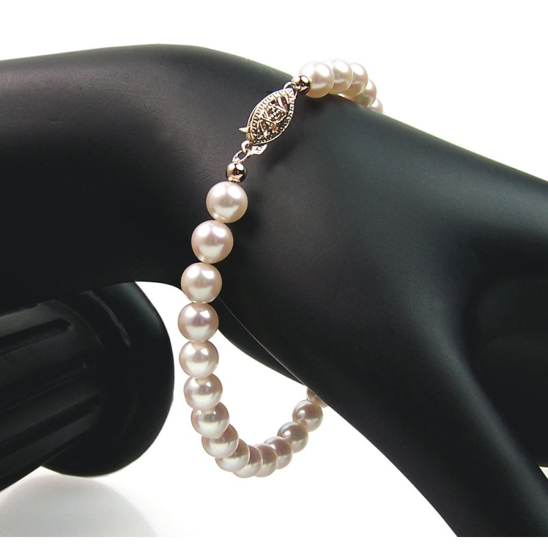 Bracelet perles de culture eau salée - Perle Akoya - 5.5/6mm, AAA