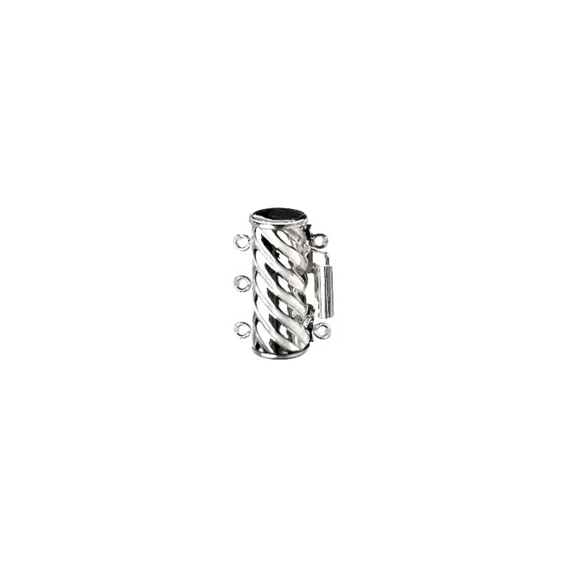 Cylindre triple or blanc 14ct