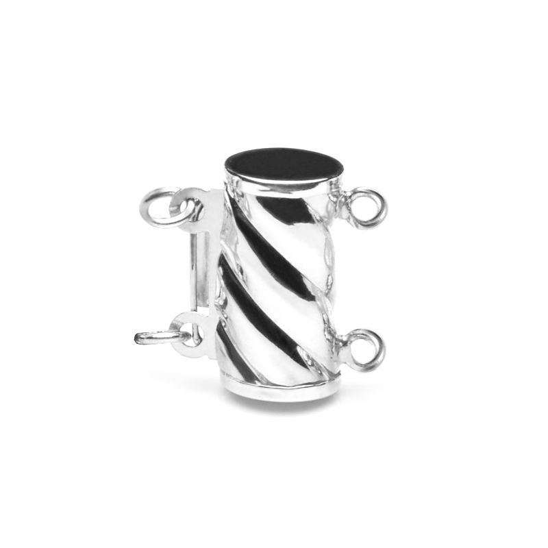 Cylindre or blanc 14ct