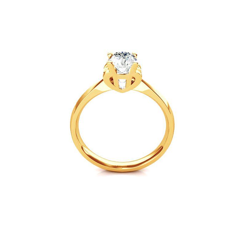 Bague prénom - Lettre H - Diamant, Or jaune