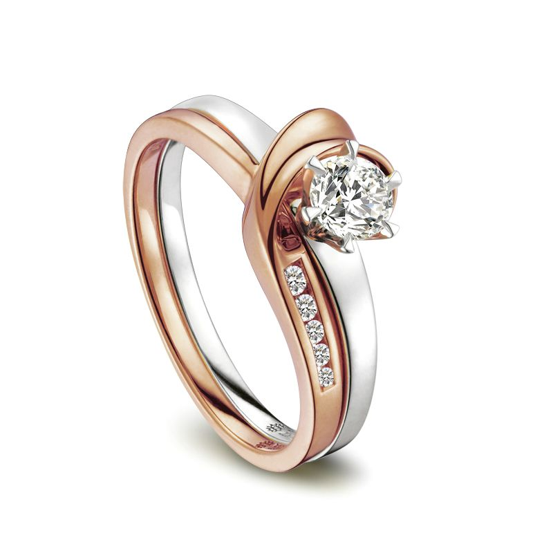 Bague Louis Aragon - Nous dormirons ensemble - Or blanc, rose