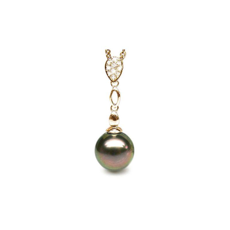 Pendentif Arue - Perle de Tahiti - Or jaune, diamants
