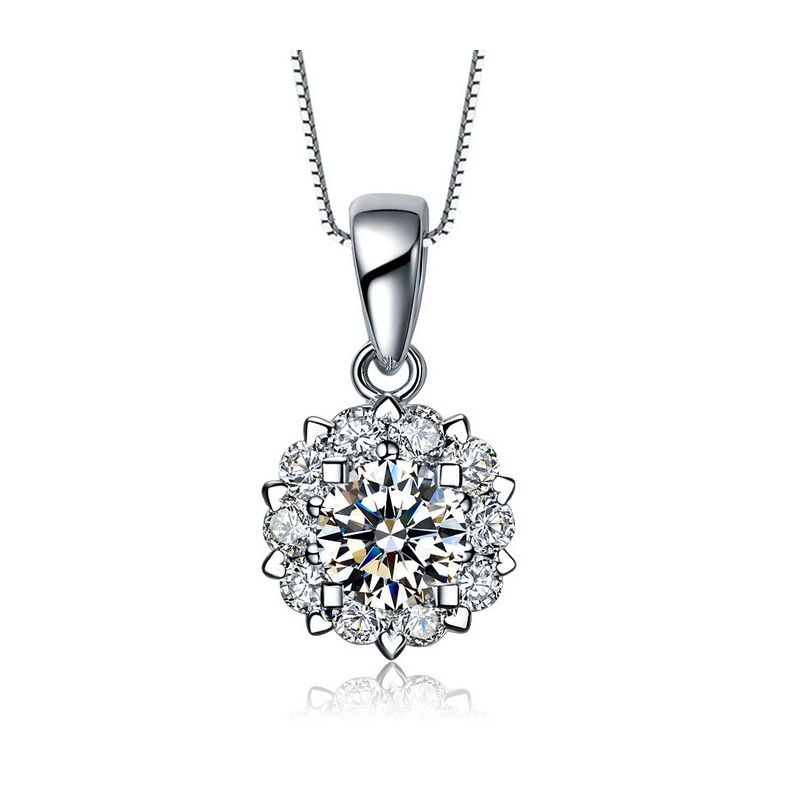 Pendentif Coeur Caillouté Or blanc et Diamants 0.33ct