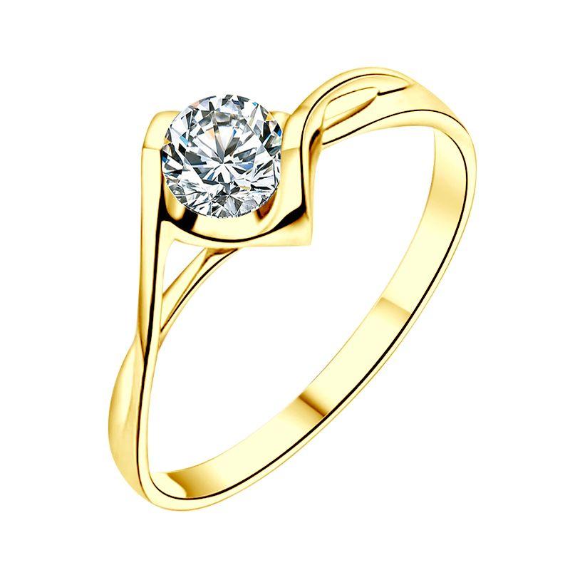 Solitaire or jaune - Diamant 0.20 carat - Victor Hugo, A Jeanne