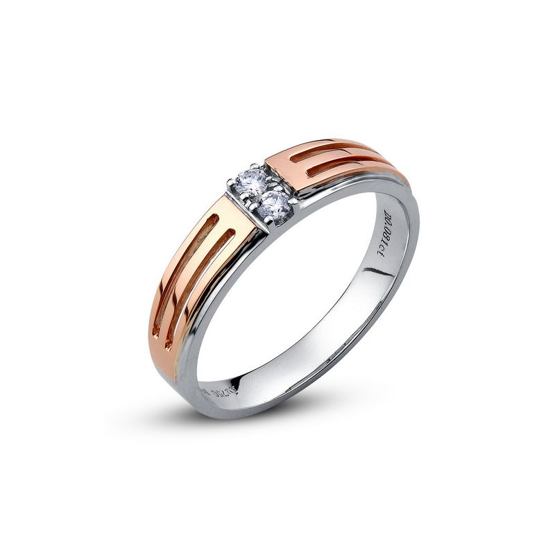 Bijouterie alliance mariage - Alliance Homme - Or blanc et rose