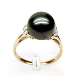Bague perle de tahiti noire