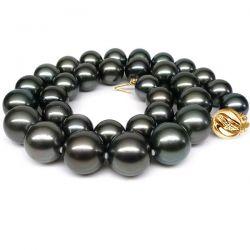 Collier perles Tahiti noires - Perle de culture Pacifique