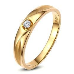Alliance Or jaune et diamant pour femme