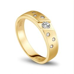 Alliance diamant homme or jaune