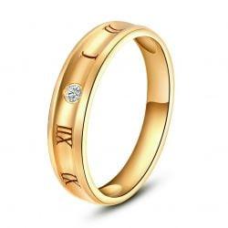 Bague or jaune homme chiffre romain