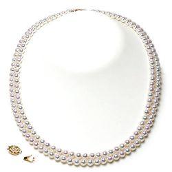 Collier 2 rangs de perles Akoya