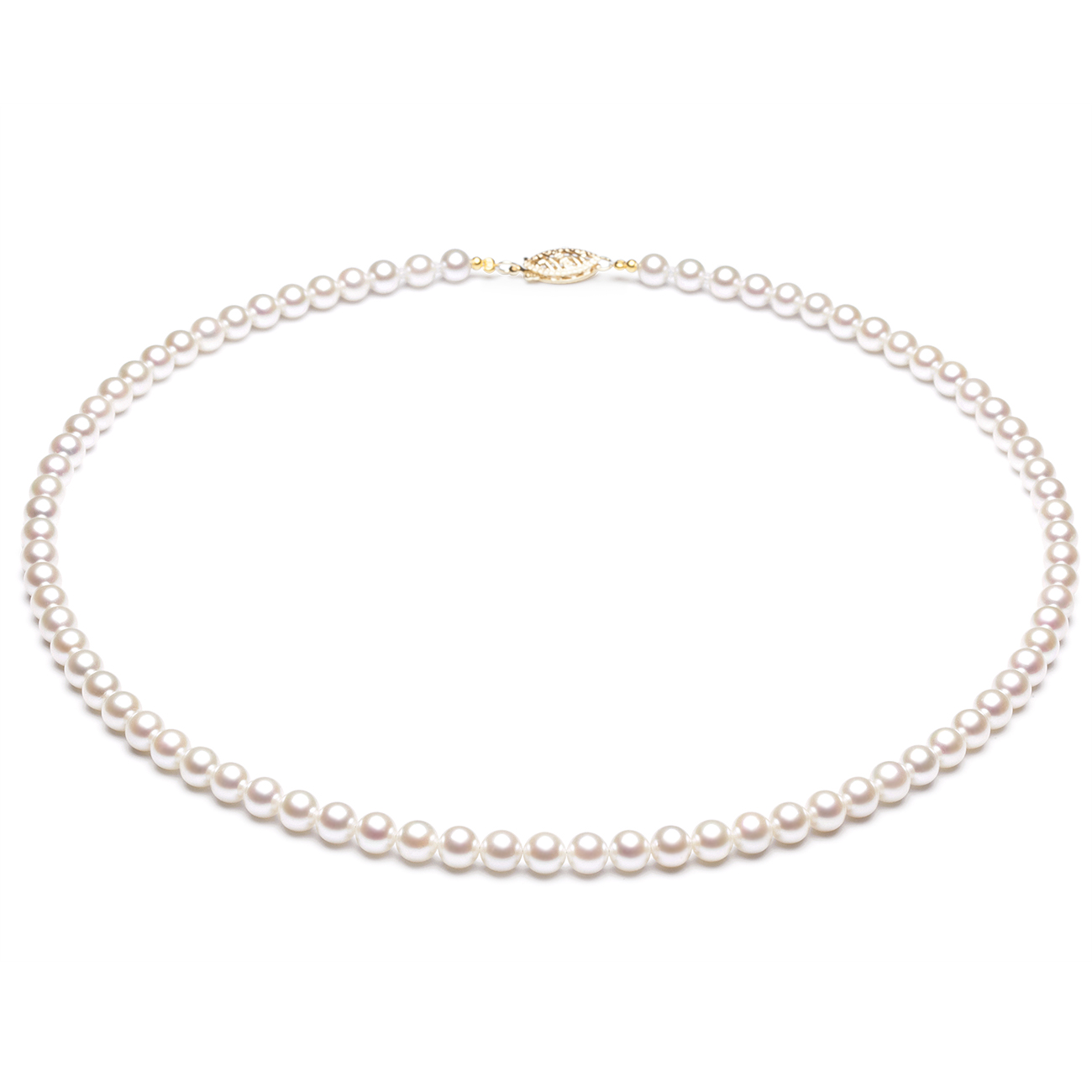 Collier perles Japon - Perle de culture de mer blanche - 4.5/5mm