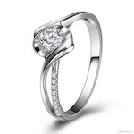 Bague Solitaire Or Blanc Diamants