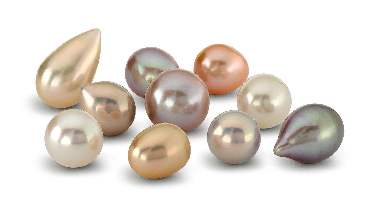 Différentes couleurs et formes de perles