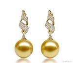 Boucles d'oreilles Perles d'Australie