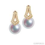 Boucles d'oreilles MICHIKO, perles Akoya du Japon
