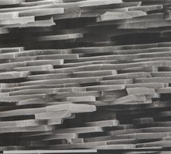 Empilement de plaquettes d'aragonite